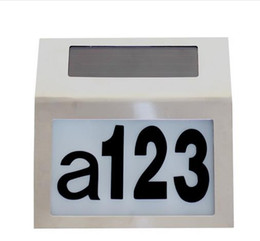 Wholesale Led House Number Lights - Led Solar Light Outdoor Stainless Solar Powered Doorplate Lamp House Number Light outdoor lighting hot sale