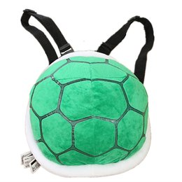 Wholesale Wholesale Super Mario Backpacks - Wholesale-Turtle Lovers Plush Backpack Super Mario Omar Rio Cuno Shells Stuffed Bag Shoulder Bag Show Props Tortoiseshell Free Shipping