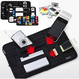 Wholesale Insert Tools - COCOON GRID-IT Home Organization Wrap Case Cover Organizer System Kit Travel PE Storage Bag Inserting Bags Electronic Gadgets
