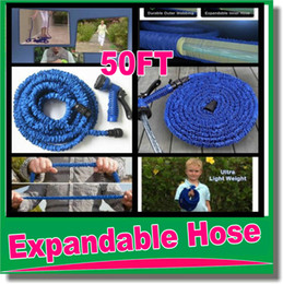 Wholesale Expandable Hose Wholesale - High Quality 50FT NEW Retractable Garden Hose Water Pipe Magic Hose Expandable and Flexible Hose with water gun OM-D9