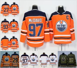 Wholesale Ryan Nugent Hopkins - 2018 Edmonton Oilers 29 Leon Draisaitl 97 Connor McDavid 99 Wayne Gretzky 27 Milan Lucic 93 Ryan Nugent-Hopkins Blank Jersey White Orange