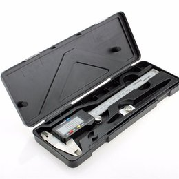 """Wholesale Digital Mm Gauges - Wholesale-150 mm 6"""" Digital CALIPER VERNIER GAUGE MICROMETER #9717 Stainless Steel Electronic Digital Caliper with LCD Display"""