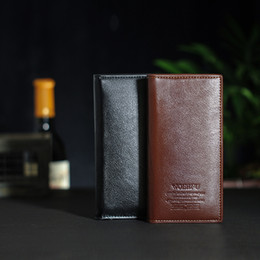 Wholesale Leather Money Bags For Men - 3pcs lot Leather mens wallets purse porte money fashion gifts for men ultra-thin wallet case clutch credit cards brands bags man size