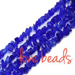 Wholesale Hematite Purple Beads - Irregular Gravel Beads Dark Blue Glass Freeform Chips Loose Beads 33'' Strand wholesale DIY(F00284) wholesale
