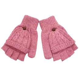 Wholesale Girls Fingerless Cotton Gloves - 2016 Fashion Gloves Women Mitten Warmer Women Winter Glove Fingerless Gloves Female Girls Guanti iInvernali Donna Guantes Mujer