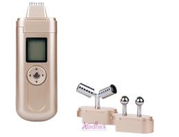 Máquina galvanica de cara online-7 agujas Microcurrent EMS Galvanic masajeador facial Y shape Face Lift Roller eyes frente a la eliminación de arrugas anti envejecimiento máquina para uso doméstico