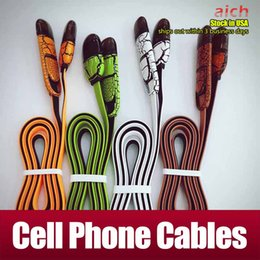 Wholesale Usa Data - Stock in USA Cell Phone Cables 2.4A Charging One with two double color leather grain noodles Quick Charge data line with packageing