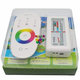 Wholesale Touch Rgb Light - DC 12V 24V RGBW RGB Led Controller 2.4G RF Touch Screen Remote Control 6A 4 Channel for smd 5050 3528 2835 led strip Lights