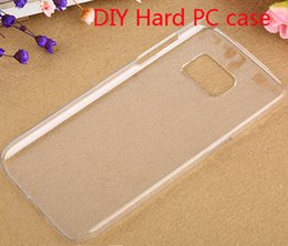 Wholesale Diy Cell Case - Cell phone Crystal Clear Transparent Ultra Thin DIY PC Material Hard Case for Samsung Galaxy S7 G930 S7 Edge G935 Back Cover Shell