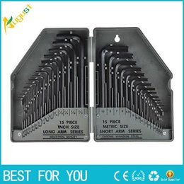Wholesale Hex Driver Wholesale - One Set L-Shape Hexagonal Wrench Flat Head Hex Socket Spanner Stainless Steel Hex Key Screwdriver Screw Driver 45#copper