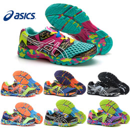 Wholesale Beige Black Women Flat Shoes - 2017 Asics Gel-Noosa TRI8 VIII Running Shoes Discount For Men Women Professional Cheap Jogging Multicolor Sneakers Sports Shoes Size 36-44