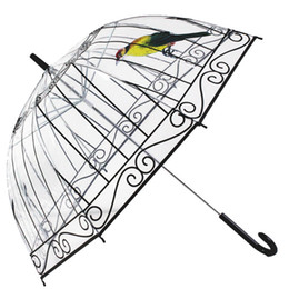 Wholesale Apollo Free - Fashion Apollo Transparent Umbrella Clear POE Umbrella For Girls Mushroom Print Umbrella Free Shipping 20pcs lot