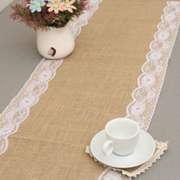 Wholesale Modern Table Runners - 50pcs Home Linen Lace Table Runner Beige European-style Fashion Contracted Classic Modern Luxury Tea Table Flag ZA0763
