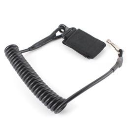 Wholesale Hanging Magic - Adjustable Combat Sling Telescopic Tactical Pistol Hand Gun Secure Lanyard Spring Sling with magic tape Belt, hanging buckle
