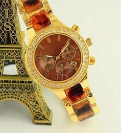 Wholesale Diamonds Battery - M brand Watches with calendar Stainless steel Men women diamond wristwatches Japan movement wristwatches Famous brand luxury quartz watch