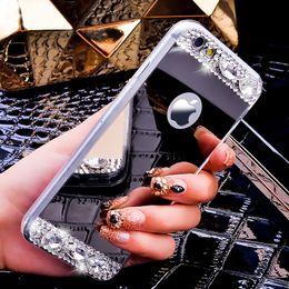 Wholesale Crystal Fashion Phone Case - for iPhone 7 iPhone7plus Bling Glitter Mirror Case Diamond Crystal Phone Cover i6 6S 6 6sPlus 5S SE Slim Soft TPU Fashion style