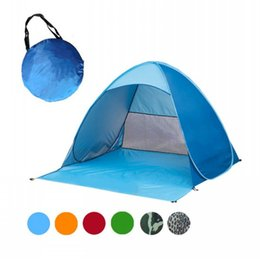 Wholesale Sun Shade Beach Tent - 2 Persons tent Outdoor camping for hiking Backpacking fishing beach summer tent UV protection fully sun shade Quick Automatic Opening