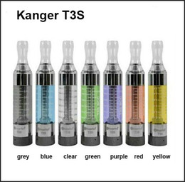 Wholesale Ego Kanger T3s - Kanger T3S Atomizer upgraded t3 clearomizer t3s tank with 2.2ohm t3s coils ego 510 thread for ego-t evod vision spinner 2 battery