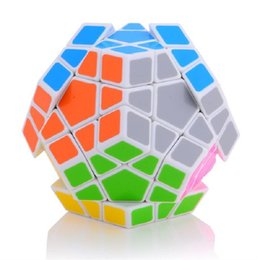 Wholesale Megaminx Cube - 2016 NEW Shengshou SS Megaminx Magic Cube Professional 5x5x5 PVC&Matte Stickers Cubo Magico Puzzle Speed Classic Toys Free Shipping