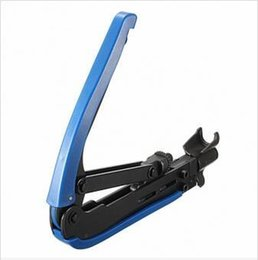Wholesale Compression Tool For Cable - High Quality RG6 RG11 RG59 Coaxial Cable Crimper Compression Tool For F Connector CATV Satellite free shipping