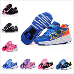 Wholesale Roller Skate Shoes Kids - Children Wheels Roller Skate Shoes Girls Boys Athletic Shoes With One Wheel Kids Sneakers Child Jazzy Junior Fashion Sport Men Women Adults