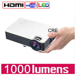 Wholesale Led Low Cost - Wholesale- Portable LED Mini Projector Lowest Cost With HDMI USB VGA TF For Home use Game Beamer