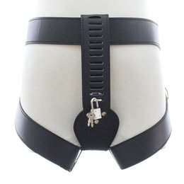 Wholesale Leather Bondage Harness Restraint - Leather harness female chastity belt panties briefs sex products bdsm bondage restraints thigh ring pants for woman fetish wear