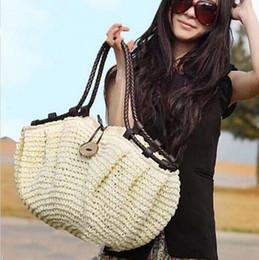 Wholesale Ladies Shoulder Computer Bag - women bag summer style handbags fashion totes designers Straw bag woven beach bag famous designer brands high quality