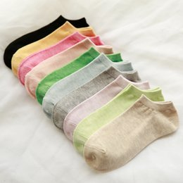 Wholesale Cheap Slipper For Women Wholesale - High Quality Short Sock for Women Cotton Casual Cheap Price Slippers Fashion Shallow Socks Free Shipping