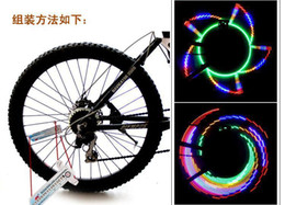 Wholesale 32 Led Bike Wheel Lights - Bicycle Accessories Programmable Colorful Bicycle Bike Cycling Wheel Spoke Light 32-LED 32-pattern