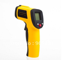 Wholesale Digital Lcd Display Infrared Thermometer - Digital IR Thermometer Portable Non-Contact Infrared Temperature Meter With Laser -50~+380C With LCD Display 5pcs lot