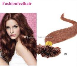 "Wholesale Cheap Blonde Hair Extensions Dark - Cheap Hair 18""-28"" Keratin U Tip Human Hair Extension Straight 1g strand 300g lot Brazilian Virgin Hair Extension"
