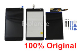 Wholesale microsoft screens - 1Pcs for Nokia Microsoft Lumia N535 535 LCD Display Touch Screen Digitizer assembly With Frame CT2S1973FPC-A1-E And CT2C1607FPC-A1-E +Tools