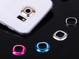 Wholesale Edge Guard Protector Silver - New Protector Guard Circle Edge For Samsung Galaxy S6 edge Back Rear Camera Glass Metal Lens Case Cover Mobile Phone Accessories