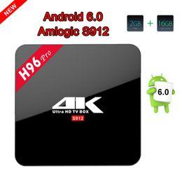 Wholesale Amlogic Cortex - H96 PRO Amlogic S912 Octa Core ARM Cortex-A53 2G 16G Android 6.0 TV Box BT4.0 2.4G 5.8G WIFI 4K
