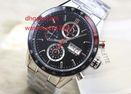 Wholesale Calibre 16 Sapphire - high quality Luxury Brand quartz Watch Calibre 16 CV2A1R Men Black Dial Chronograph Mens Watch Watches The best watch
