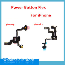 Wholesale Mobile Phone Flex Ribbon Cable - 50pcs lot High Quality Mobile Phone Proximity Light Sensor Power Button Flex Ribbon Cable For iPhone 4s Free Shipping
