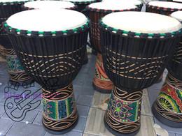 Djembe барабанщик перкуссия ручной барабан классическая живопись деревянный Африканский стиль бесплатная доставка от