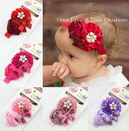 Wholesale Sweet Lovely Girls - NEW Baby Girls Kids Lovely Sweet flower Shine bowtie princess Hair Bands Vintage Hair Accessories Pretty Headbands Infant Headbands CC273