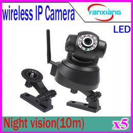 Wholesale Day Night System - Wireless Remote Controller Infrared Detector Remote Controller linkage Box Pan Tilt Security Surveillance System IP Camera 5 pcs ZY-SX-01