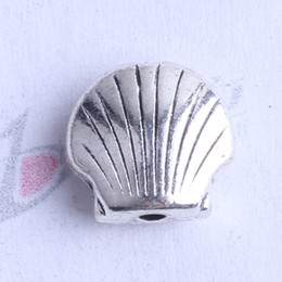 Wholesale Bronze Beads - Mini shell Spacer bead charm 650pcs lot 8*8.7mm antique silver bronze Zinc Alloy for DIY pendant Jewelry Making Accessories 2433