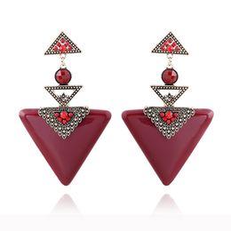 Wholesale Dangle Nail Jewelry - Hot Sale Women Christmas Earrings Nail Type Eardrop Fashion Exaggeration Earring Jewelry Geometry Triangle Wholesale Free Shipping
