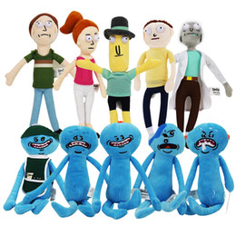 Wholesale Happy Free Games - Christmas Gifts 1pcs Rick and Morty Happy & Sad Mr. Meeseeks stuffed plush toy free shipping