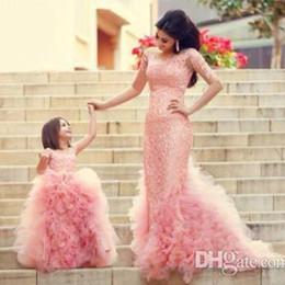 Sıcak yeni anne ve kızı için modern giysiler balo akşam parti elbiseler çocuk etek kız alayı elbise anne elbise sadece nereden