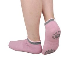 Wholesale Black Socks Wholesale - Women Sports Exercise Keep Balance Fashion Cotton Non Slip Skid Yoga Pilates Socks 4 Colors 2501034