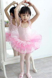 Wholesale American Girl Leotard - 100% High Quality and Cotton Lycra Princess Dress New Girl Party Dancing Leotard Ballet Tutu Dress Size 4 to 12 years BT-0012