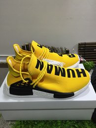 Wholesale Dhl Free Shipping Real - Supply Wholesale Original Quality As Real Shoes NMD HUMAN RACE Pharrell Williams X NMD Shoes man New Arrivals Sneakers DHL Free Shipping
