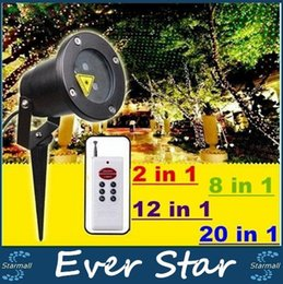 Wholesale Stage Light Lamps - Laser Christmas Lights Outdoor Waterproof Garden Lawn Lamps 2 8 12 20 Patterns Laser Stage Lights Red Green Projector Original SUNY