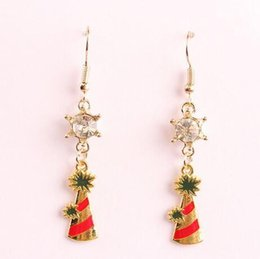 Wholesale Cheap Fashion Designer Jewelry - Hot Christmas Tree Snowflake Designer Earings For Ladies Girls Fashion Charm Dangle Chandelier cheap china jewelry Bling