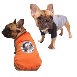 Wholesale Dog Leg Warmer - Y6 Classic Autumn Solid Bulldog Coat Hooded Clothes Cute Warm Pet Dog Costume Apparel For Bulldog Two legs Shirt